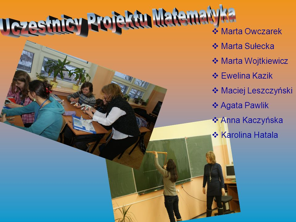 Uczestnicy Projektu Matematyka