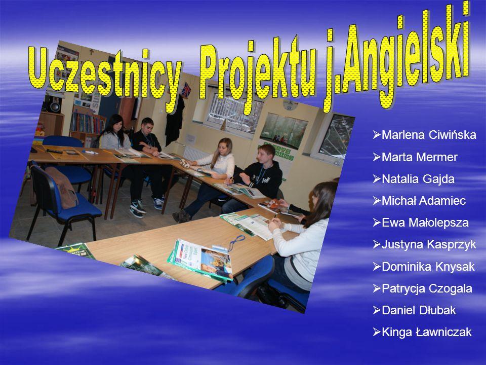 Uczestnicy Projektu j.Angielski
