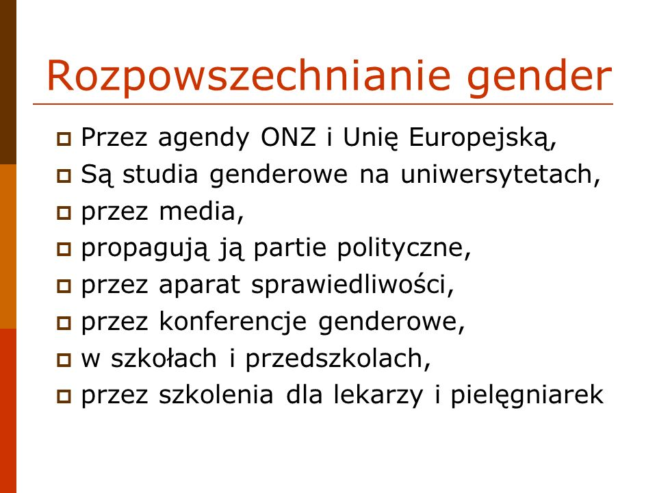 Rozpowszechnianie gender
