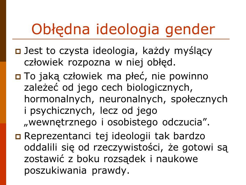 Obłędna ideologia gender