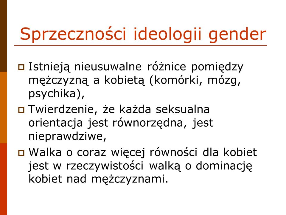Sprzeczności ideologii gender