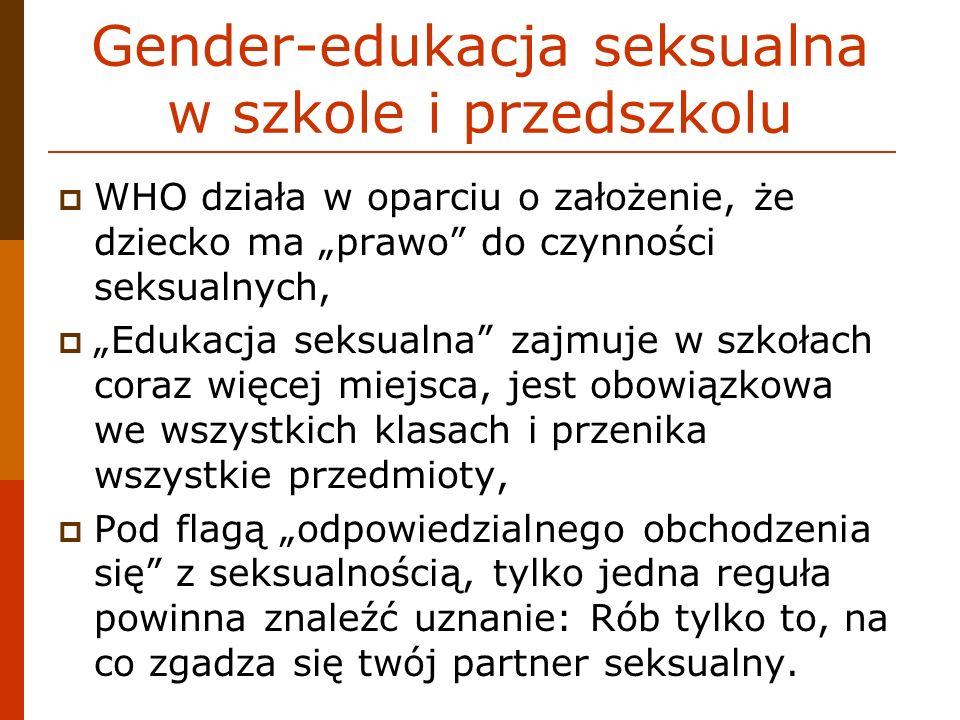 Gender-edukacja seksualna w szkole i przedszkolu