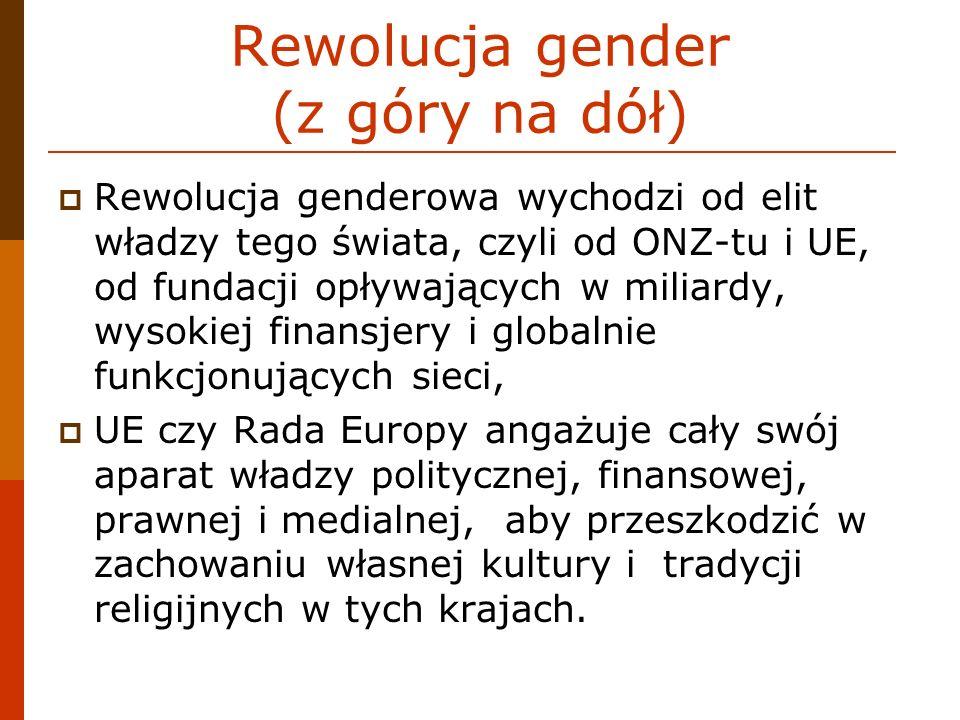 Rewolucja gender (z góry na dół)