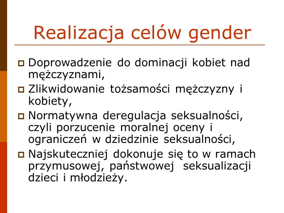 Realizacja celów gender