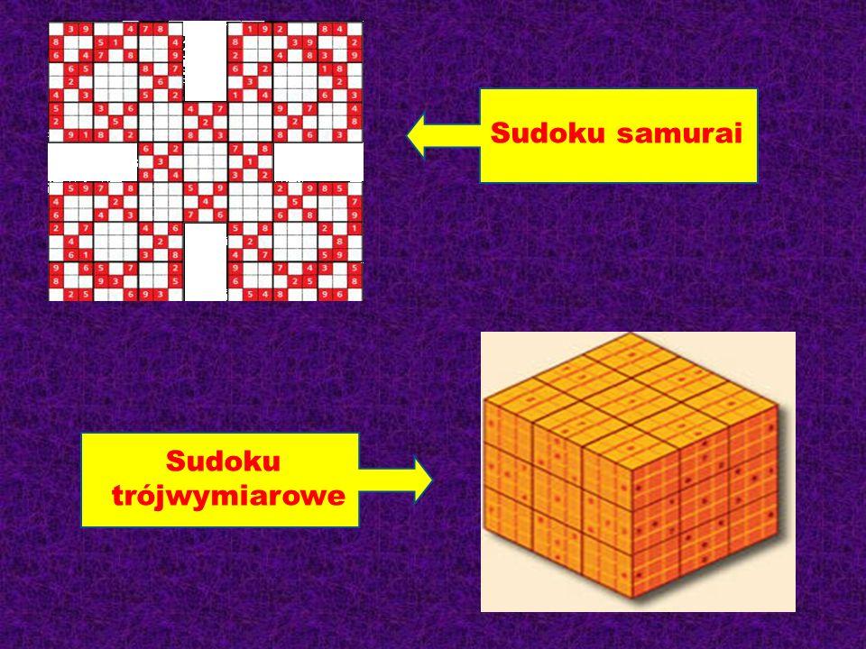 Sudoku samurai Sudoku trójwymiarowe