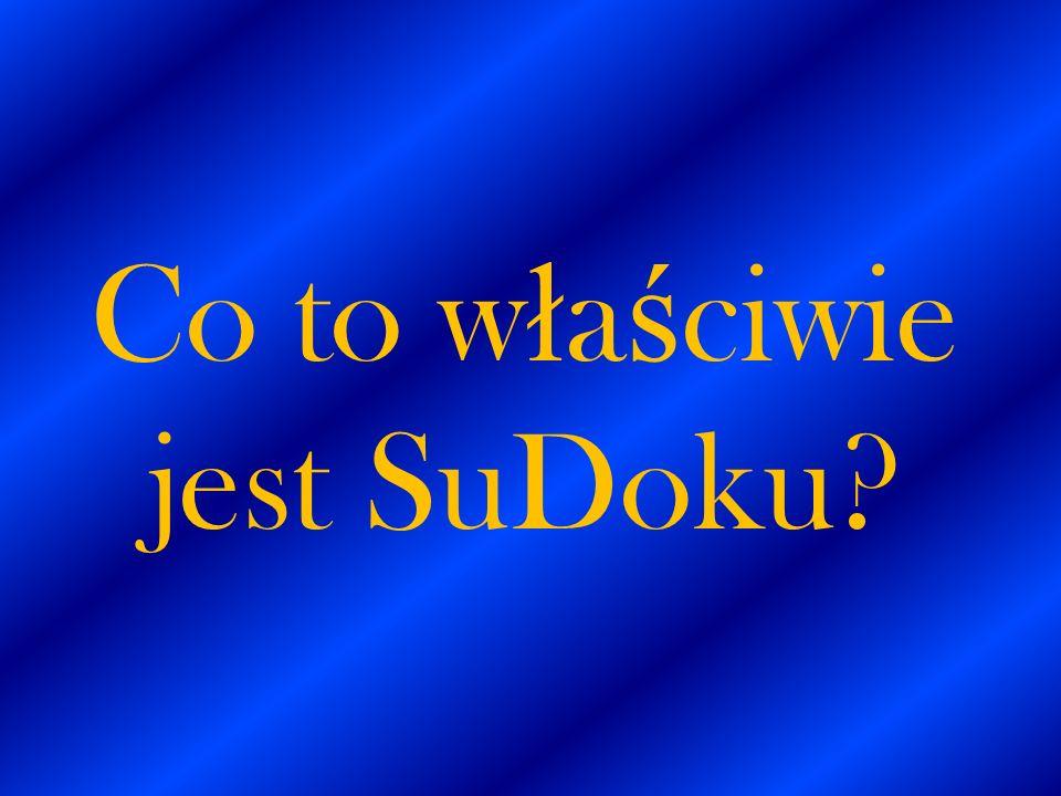 Co to właściwie jest SuDoku