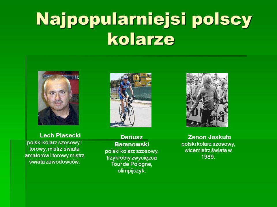 Najpopularniejsi polscy kolarze