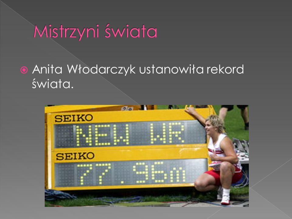 Mistrzyni świata Anita Włodarczyk ustanowiła rekord świata.