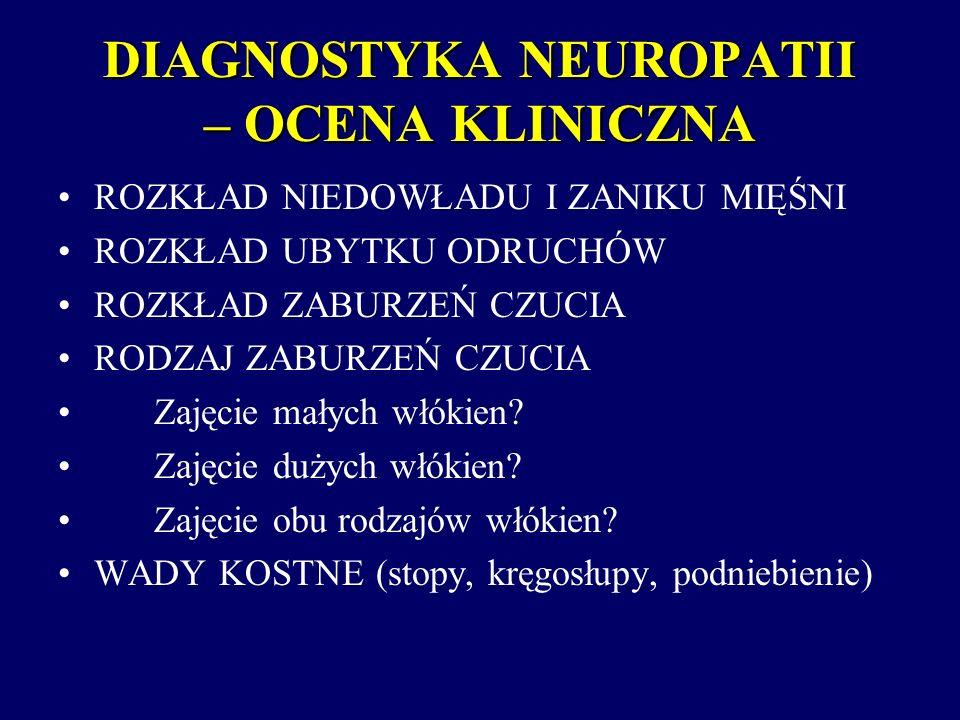 DIAGNOSTYKA NEUROPATII – OCENA KLINICZNA