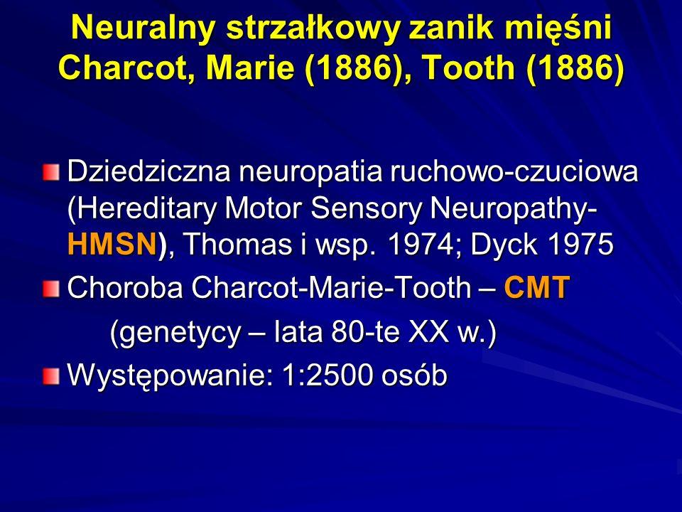 Neuralny strzałkowy zanik mięśni Charcot, Marie (1886), Tooth (1886)