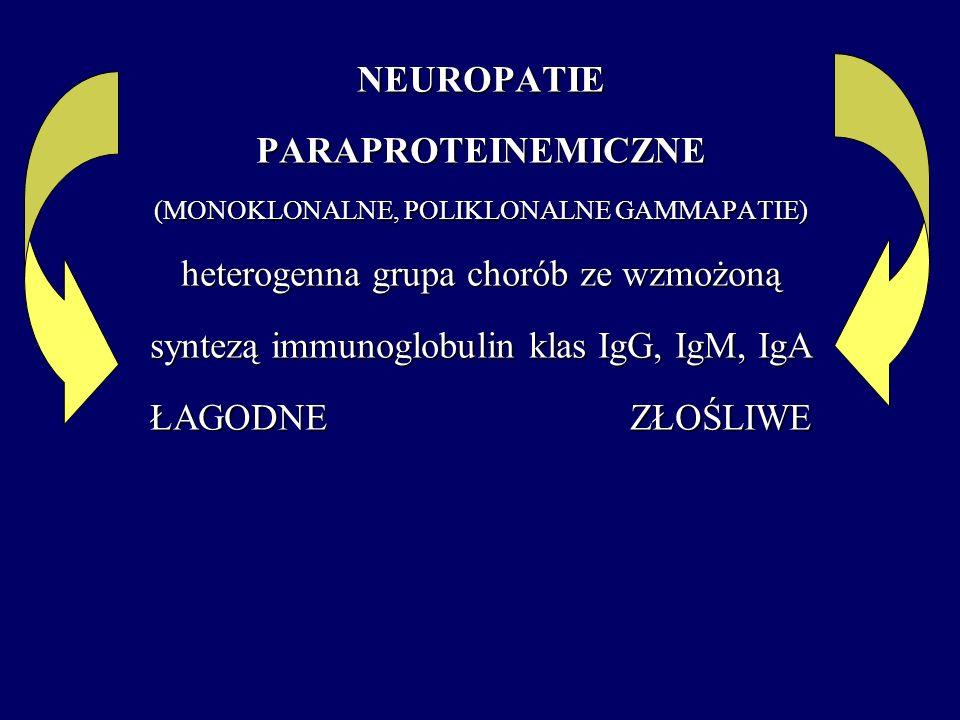 heterogenna grupa chorób ze wzmożoną