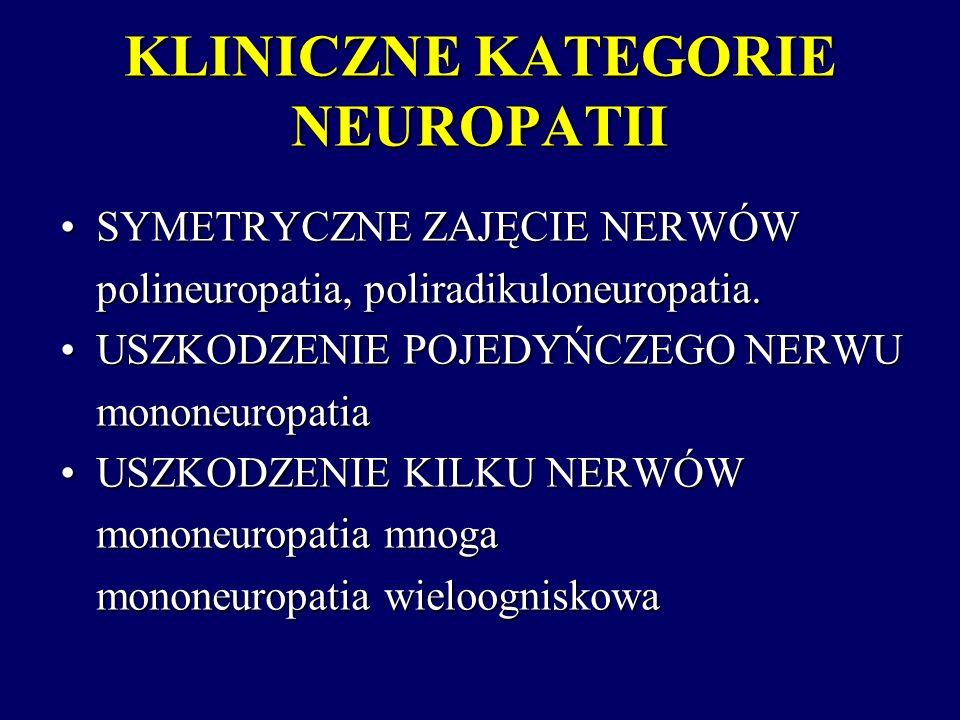 KLINICZNE KATEGORIE NEUROPATII