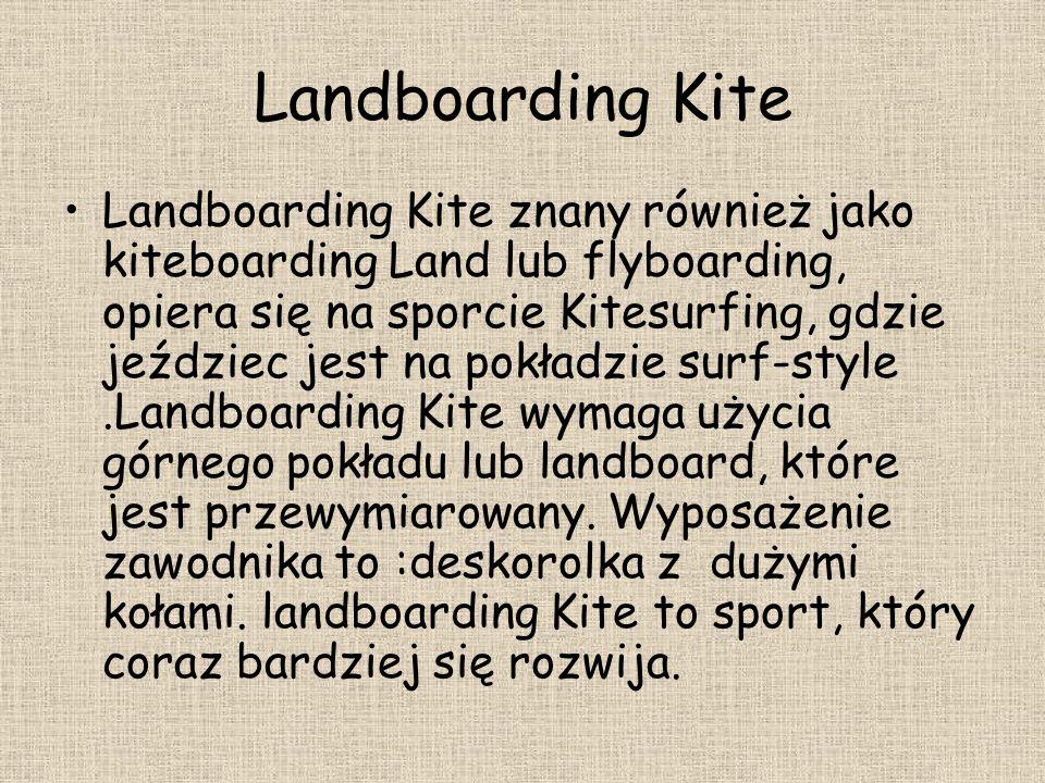 Landboarding Kite