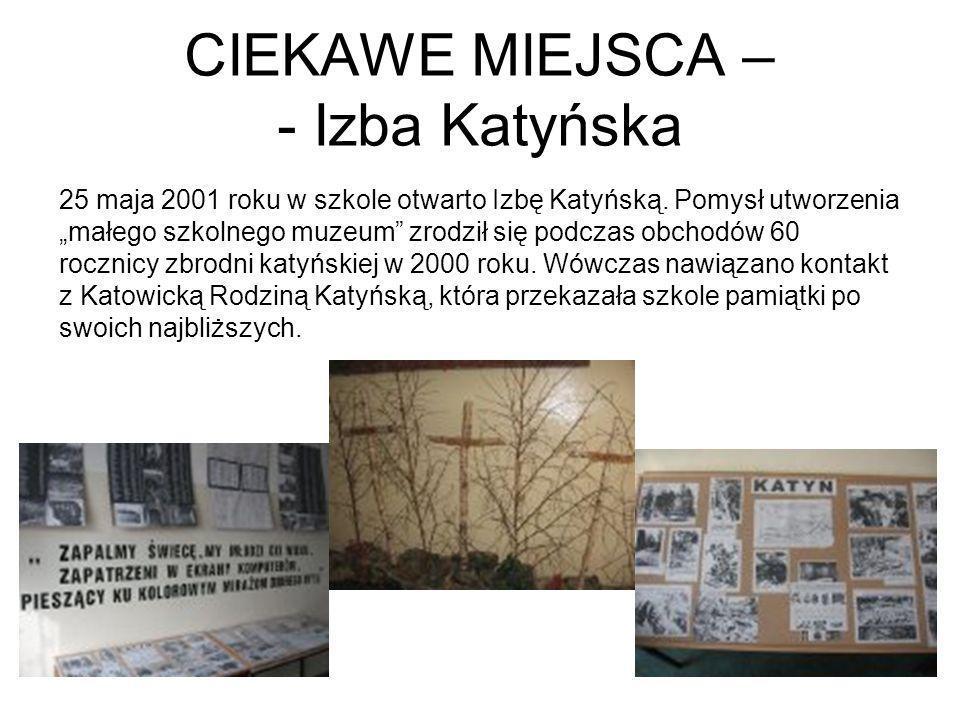 CIEKAWE MIEJSCA – - Izba Katyńska
