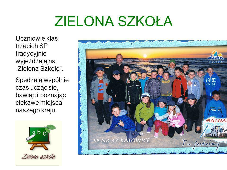 """ZIELONA SZKOŁA Uczniowie klas trzecich SP tradycyjnie wyjeżdżają na """"Zieloną Szkołę ."""