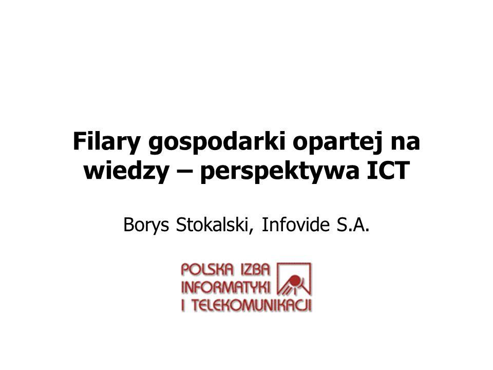 Filary gospodarki opartej na wiedzy – perspektywa ICT