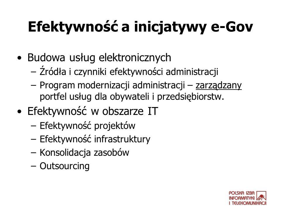 Efektywność a inicjatywy e-Gov