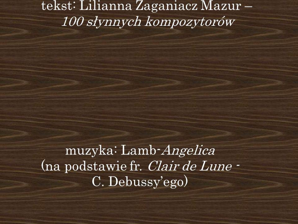 Dziękuję za uwagę tekst: Lilianna Zaganiacz Mazur –