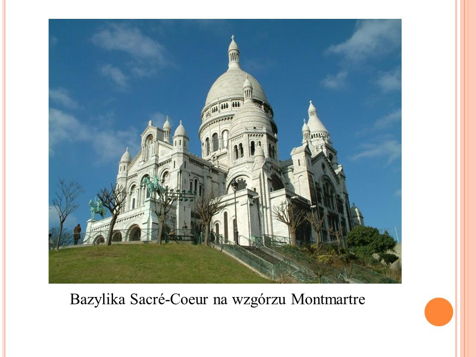 Bazylika Sacré-Coeur na wzgórzu Montmartre