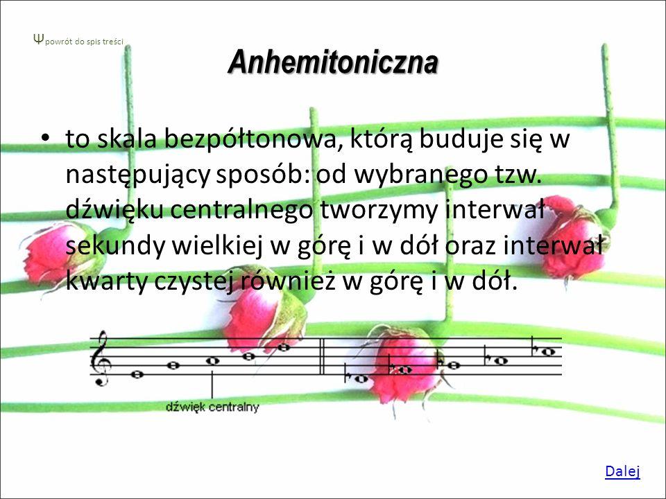 Anhemitoniczna Ψpowrót do spis treści.