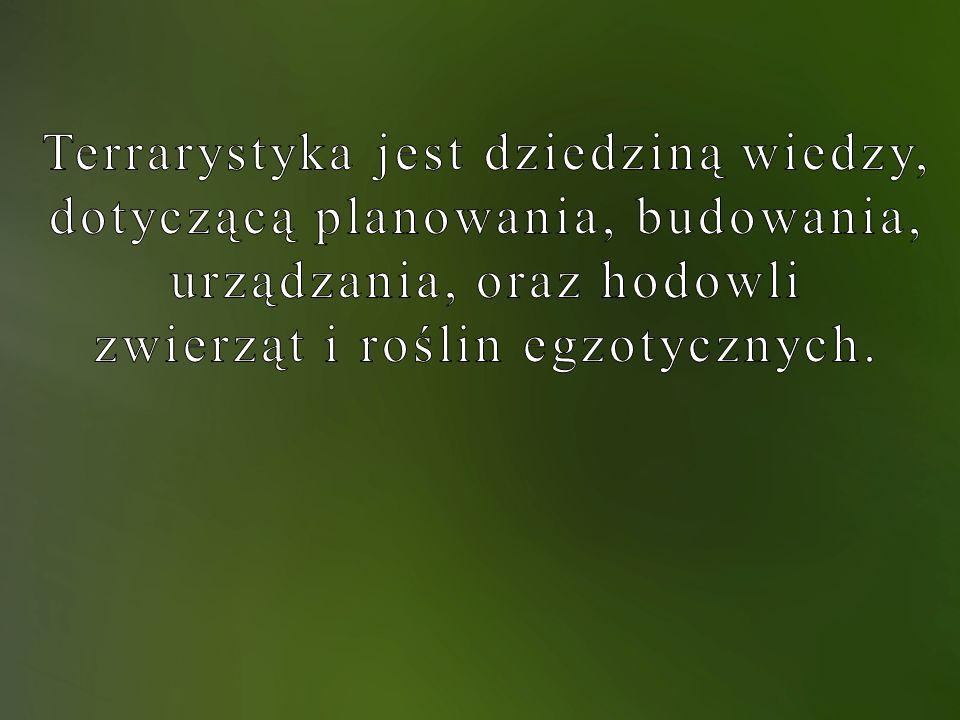 Terrarystyka jest dziedziną wiedzy, dotyczącą planowania, budowania,