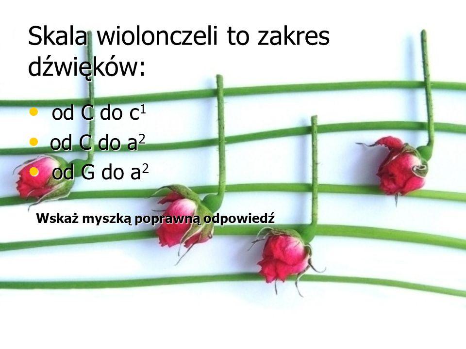 Skala wiolonczeli to zakres dźwięków: