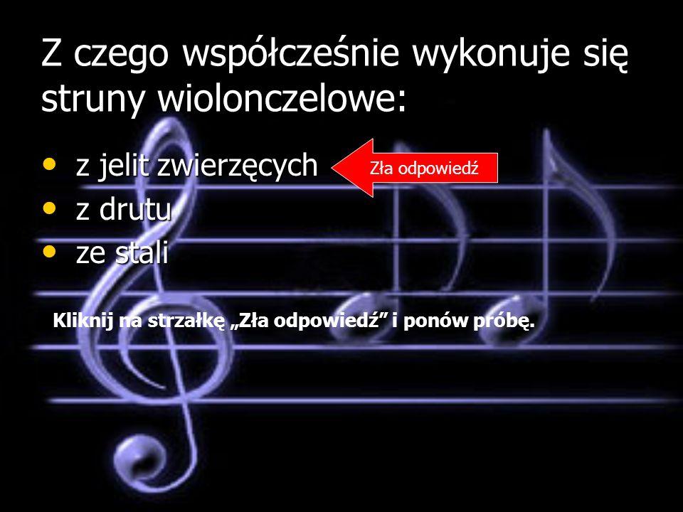 Z czego współcześnie wykonuje się struny wiolonczelowe: