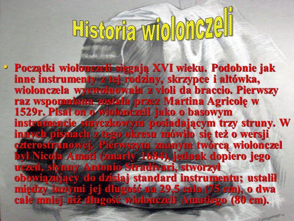 Historia wiolonczeli