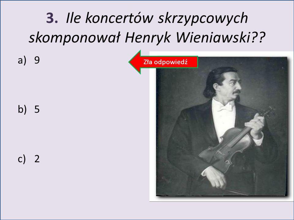3. Ile koncertów skrzypcowych skomponował Henryk Wieniawski