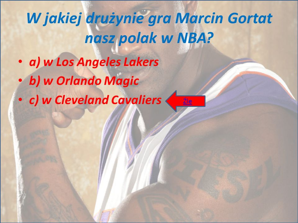 W jakiej drużynie gra Marcin Gortat nasz polak w NBA