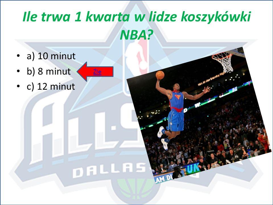 Ile trwa 1 kwarta w lidze koszykówki NBA