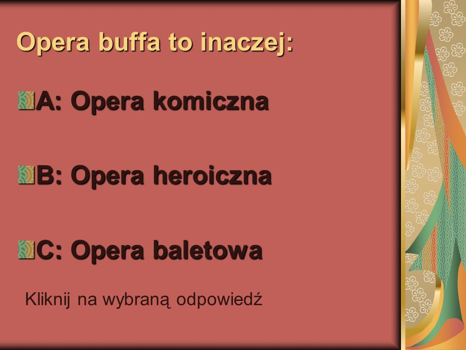 Opera buffa to inaczej: