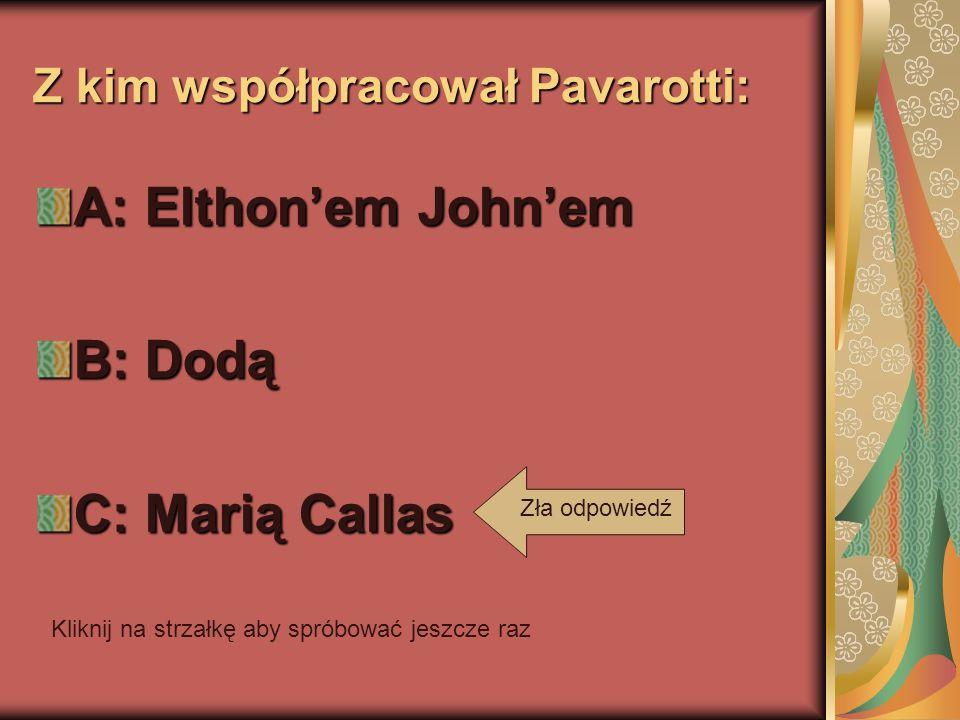 Z kim współpracował Pavarotti: