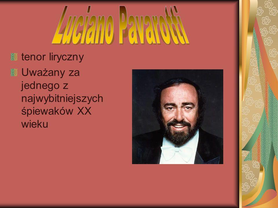 Luciano Pavarotti tenor liryczny