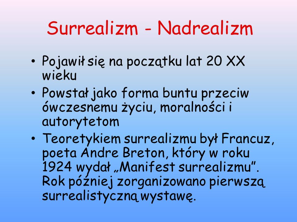 Surrealizm - Nadrealizm