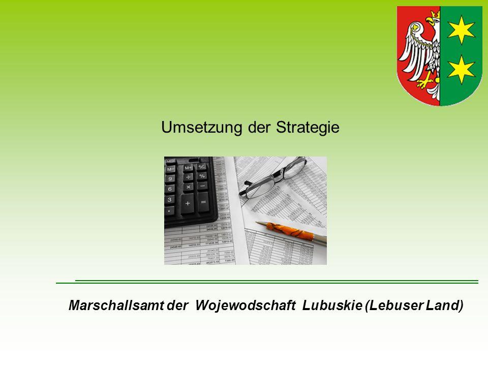 Umsetzung der Strategie
