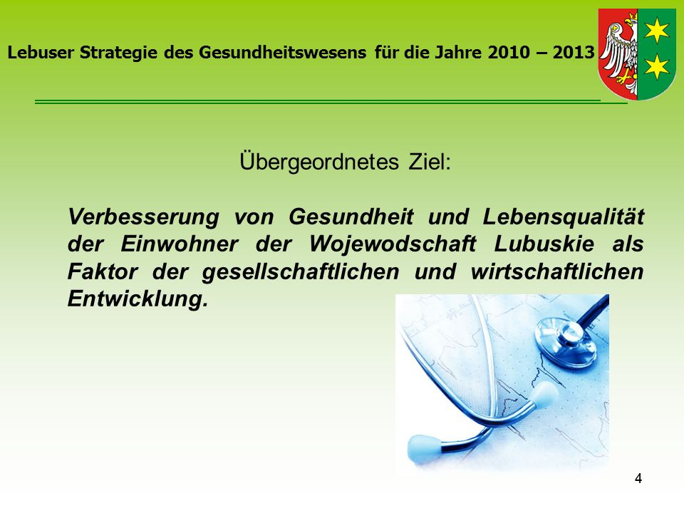 Lebuser Strategie des Gesundheitswesens für die Jahre 2010 – 2013