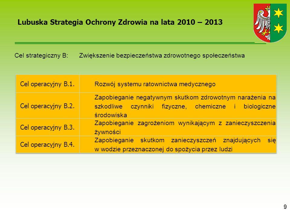 Lubuska Strategia Ochrony Zdrowia na lata 2010 – 2013