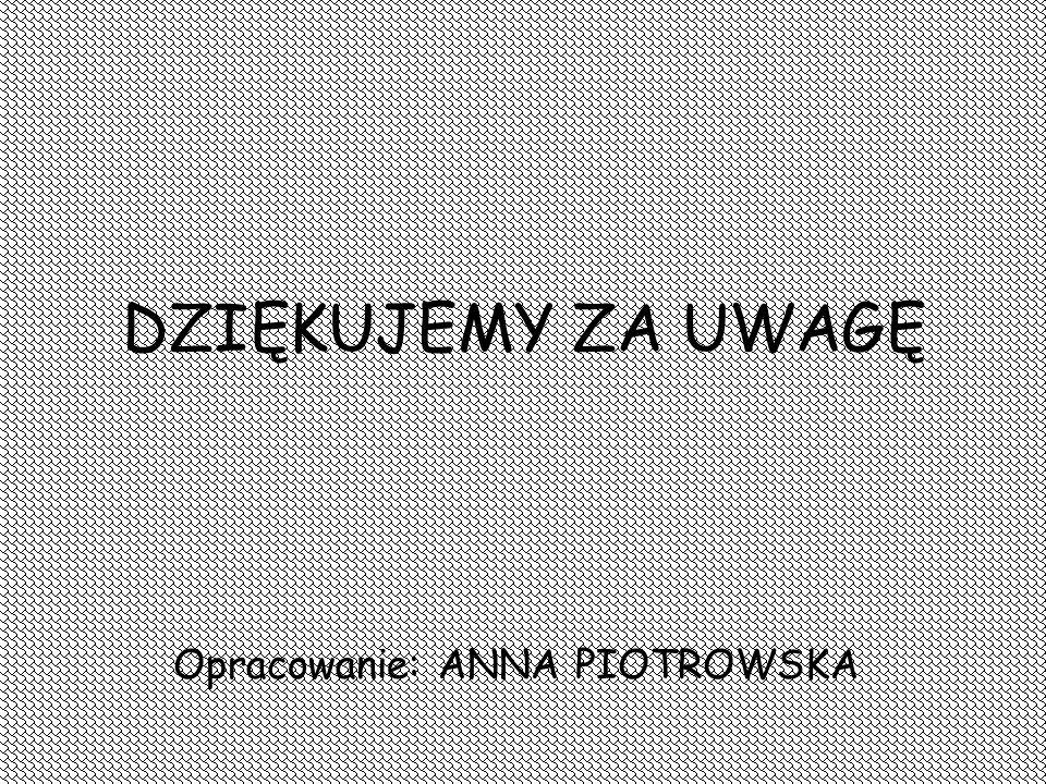 Opracowanie: ANNA PIOTROWSKA