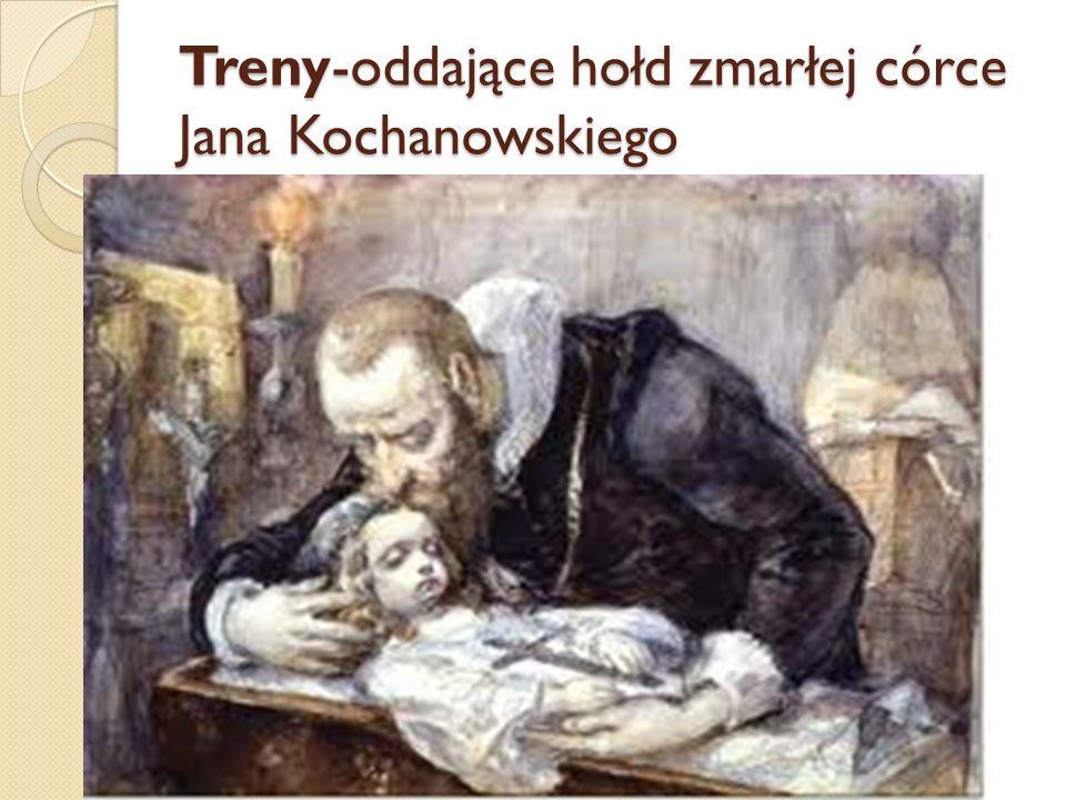 Treny-oddające hołd zmarłej córce Jana Kochanowskiego