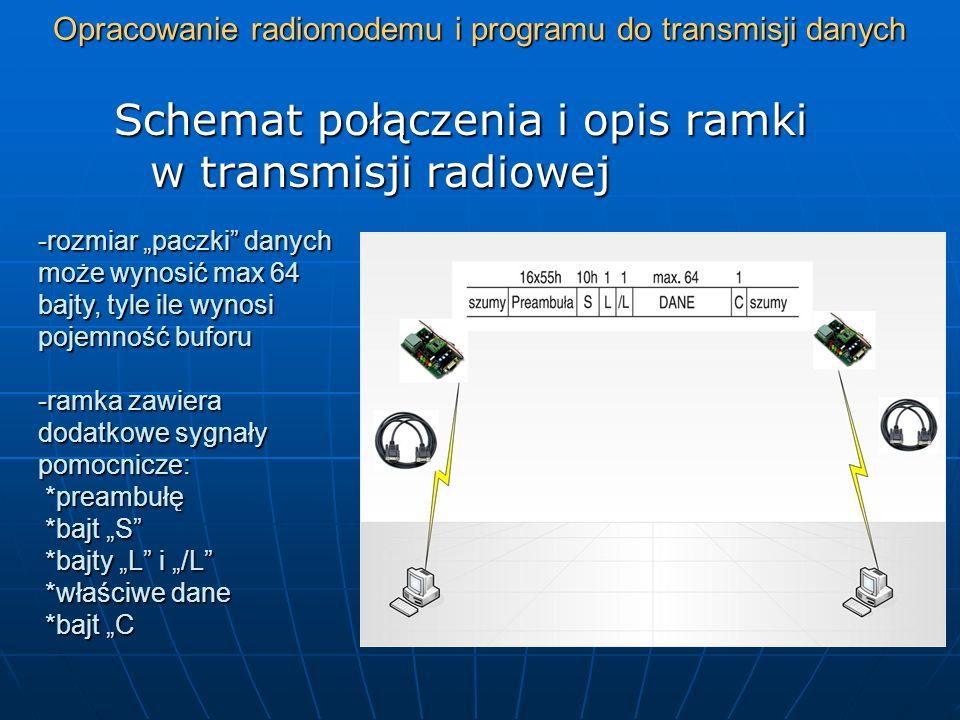 Opracowanie radiomodemu i programu do transmisji danych