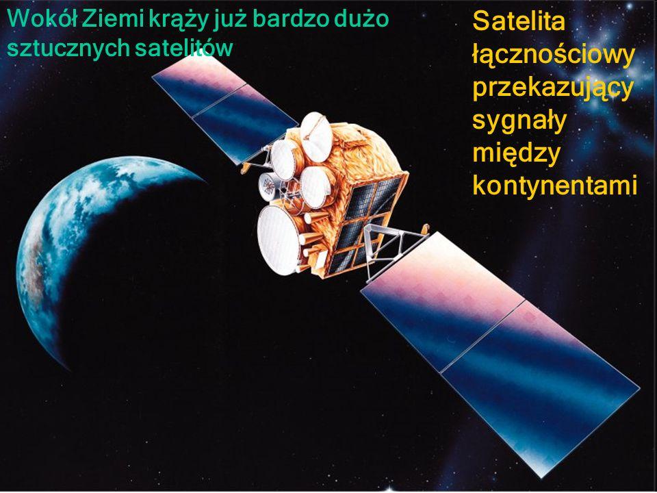 Satelita łącznościowy przekazujący sygnały między kontynentami
