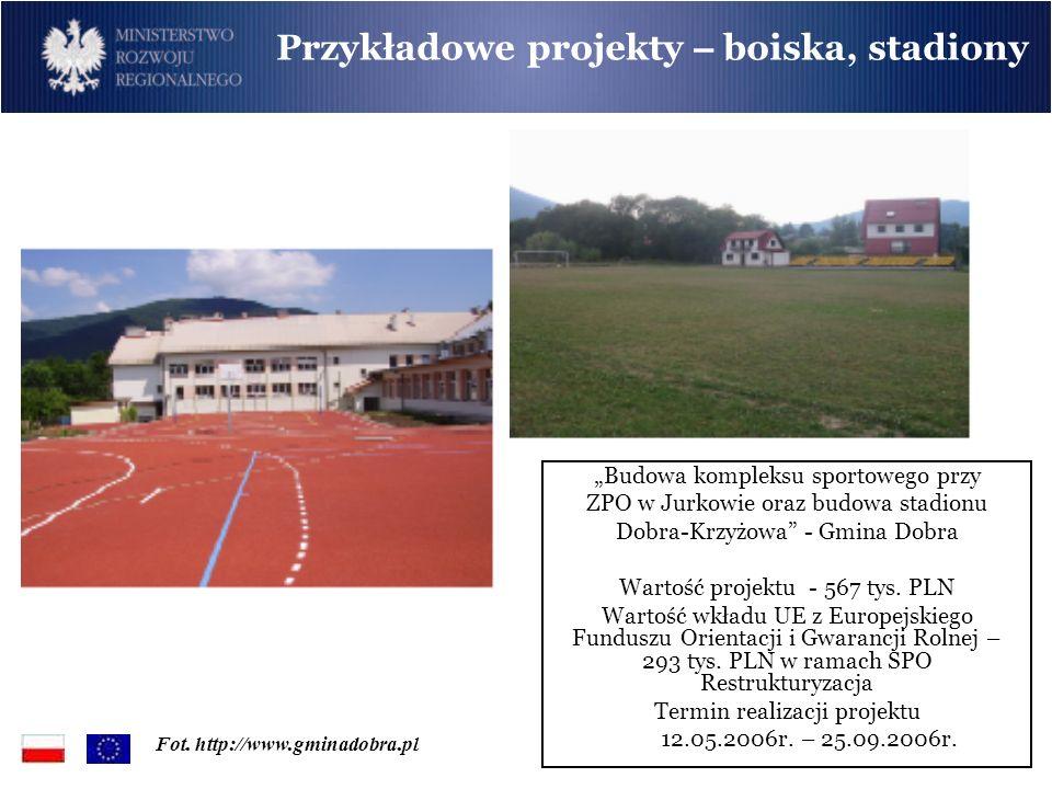 Przykładowe projekty – boiska, stadiony