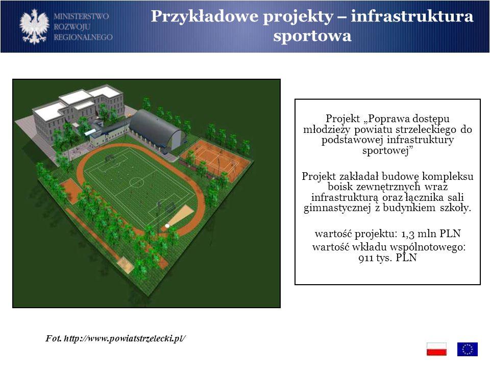 Przykładowe projekty – infrastruktura sportowa