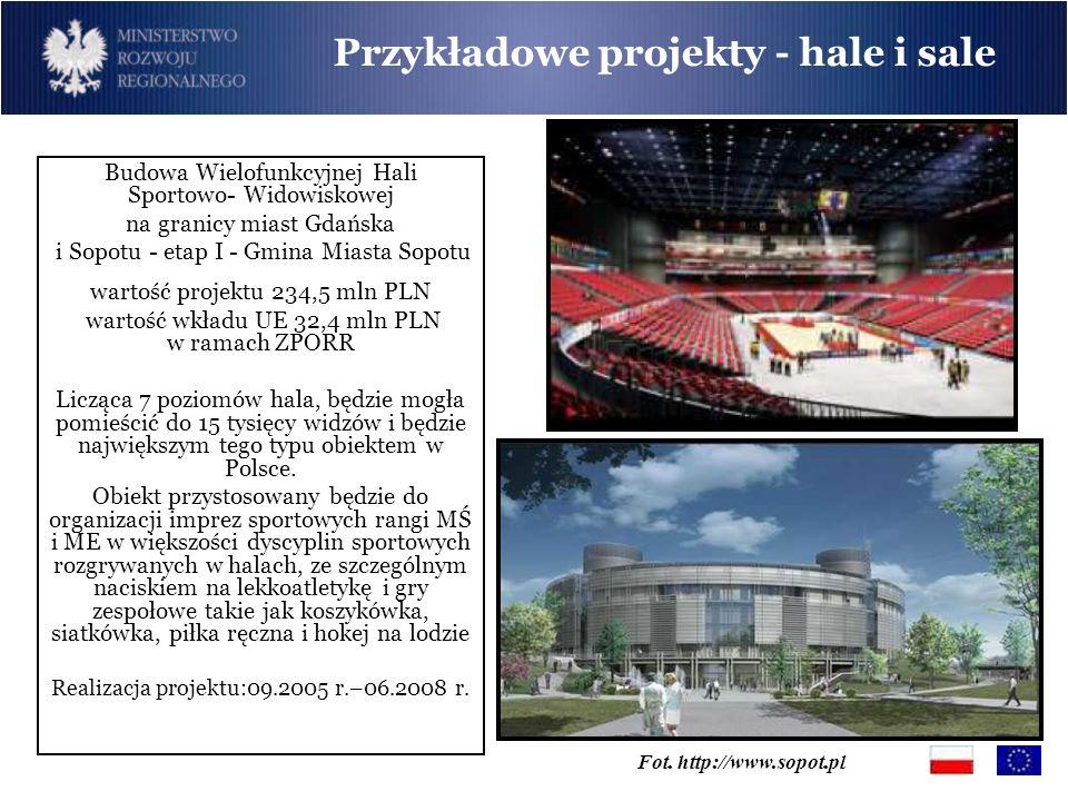 Przykładowe projekty - hale i sale