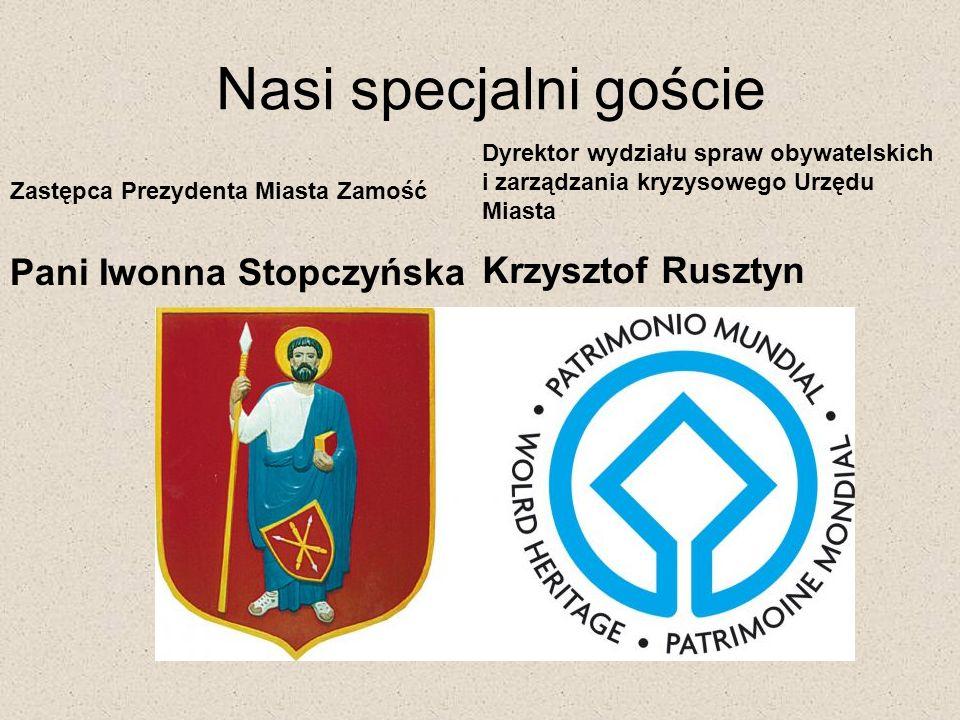 Nasi specjalni goście Krzysztof Rusztyn Pani Iwonna Stopczyńska