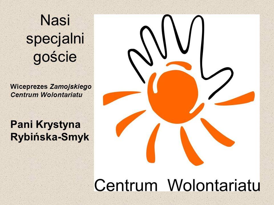 Nasi specjalni goście Pani Krystyna Rybińska-Smyk