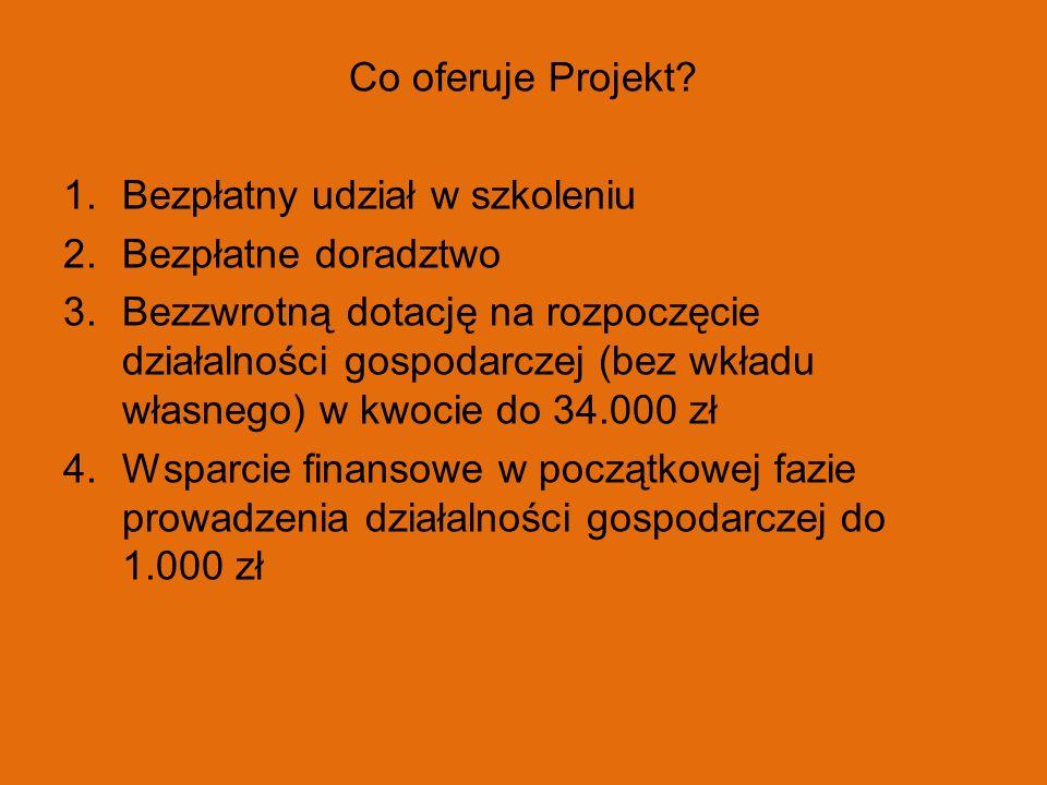 Co oferuje Projekt Bezpłatny udział w szkoleniu. Bezpłatne doradztwo.