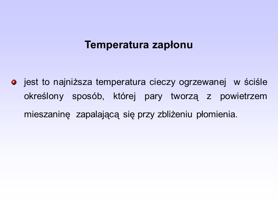 Temperatura zapłonu