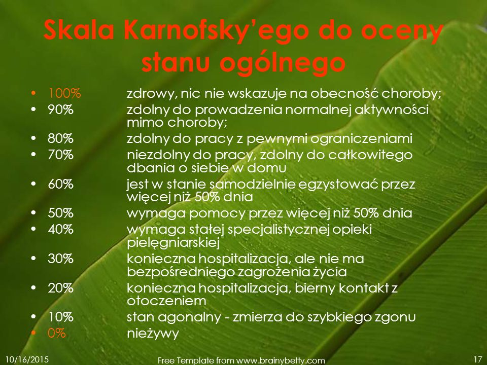 Skala Karnofsky'ego do oceny stanu ogólnego
